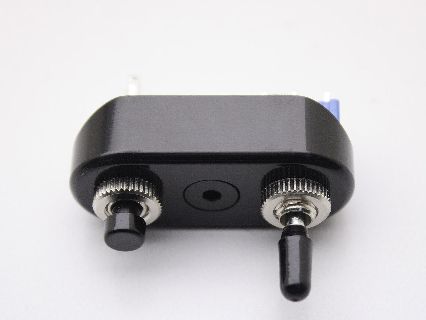 Switch Block, Black with Push Button & Toggle