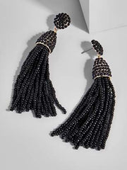 K.BLU Selects - Beaded Tassel Drop Earrings 30% Markdown