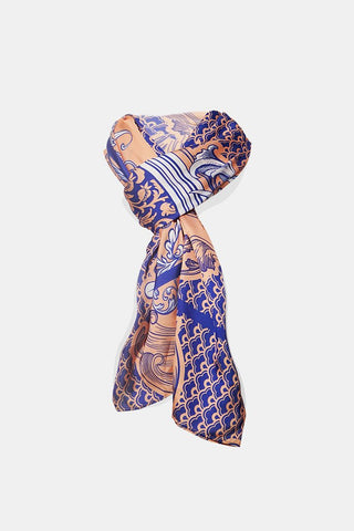 Coral Porcelain Scarf