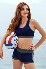 KENZILILY BLUE LAGOON NAVY BLUE SPORTSWEAR TOP (UP to 50% OFF)