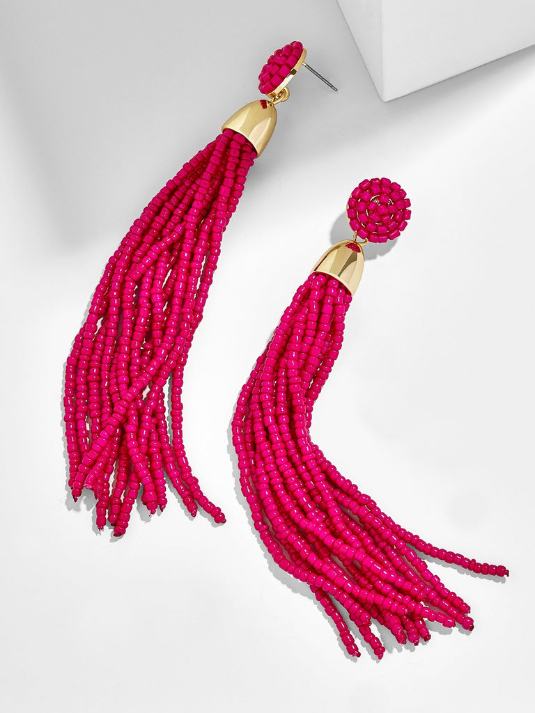 K.BLU Selects - Magenta Tassel Earrings 30% Markdown