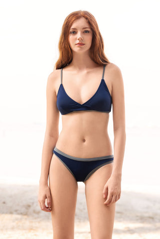KENZILILY BLUE LAGOON SOLID NAVY BLUE BIKINI SET (Online Exclusive- U.P S$100) (Top and bottom sold separately)