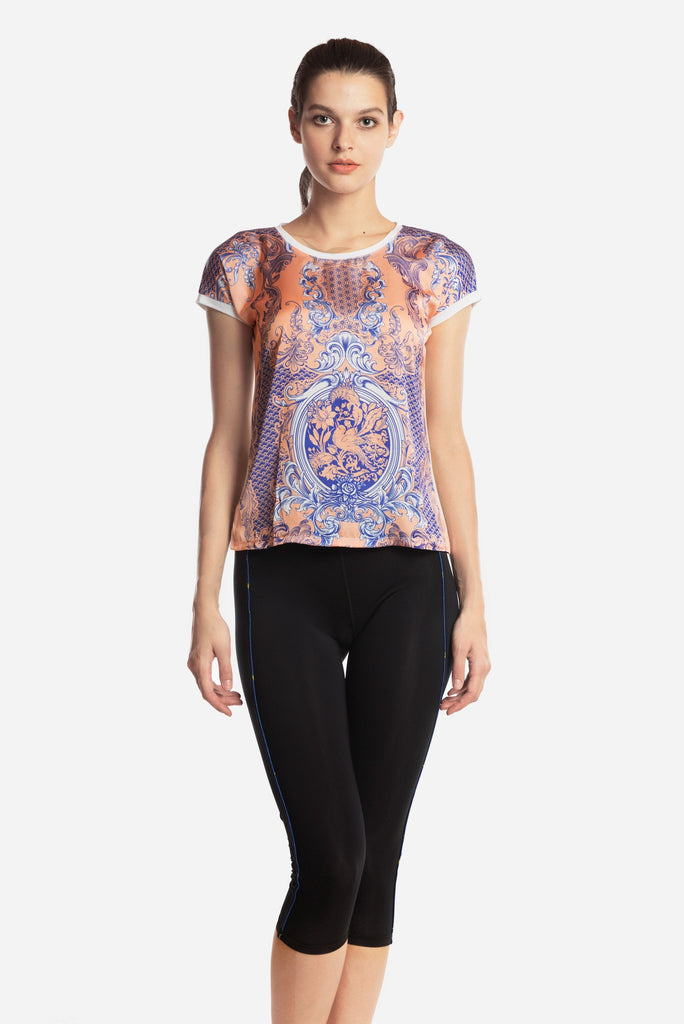 Coral Porcelain Blouse - (50% OFF-U.P $156)