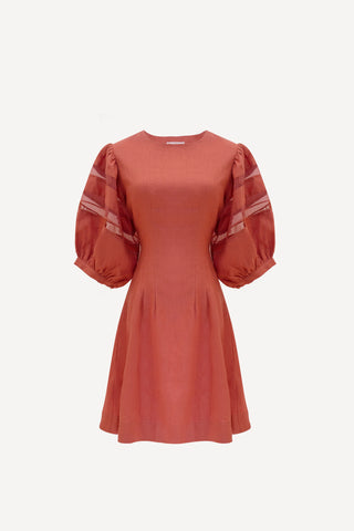 RW2022- Dusty Rose Linen Short Dress
