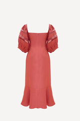 RW2023- Dusty Rose Linen Midi Dress