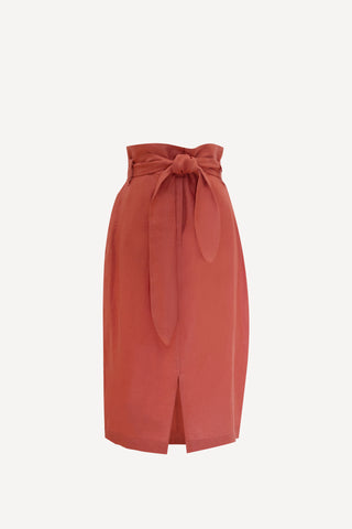 RW2021B- Dusty Rose Linen Skirt