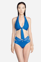 Blue Halter Bikini Bottom- 50% off - UP $85