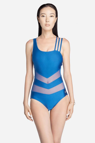 Blue One-Piece with 3 Stripes - on 50% off