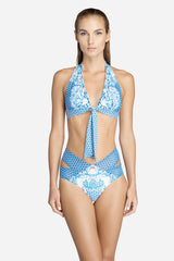 Print Halter Bikini Set (U.P to 50% OFF)