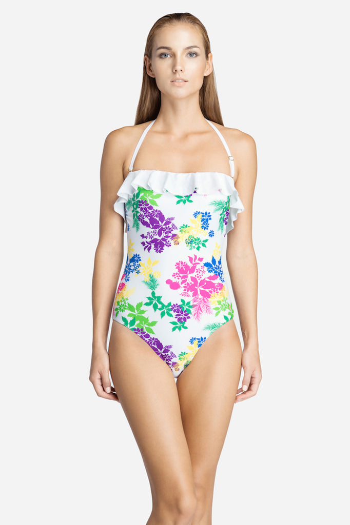 Floral One Piece Swimsuit- 14016F -(Telegram exclusive)
