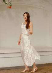 RW31007- White Slip-On Dress