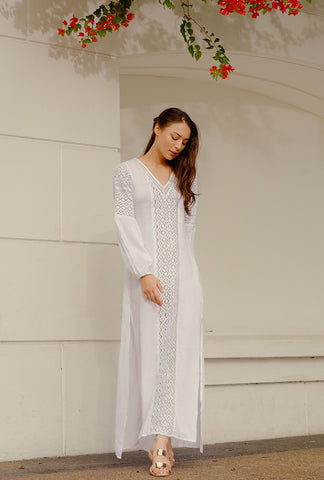RTW31000 - White Cotton Kaftan