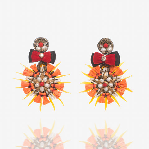 Ranjana Khan Orange Drop Earrings (30% Off)