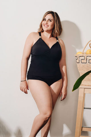 Curve - Black Tankini DD Cup Top 4100AZ (60% Markdown U.P $150) - Top and bottom sold separately)