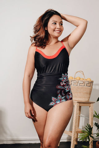 Curve - One Piece Ruched Swimwear- Markdown 30% off