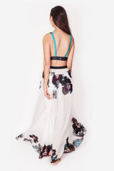 Orchid Maxi skirt with slit