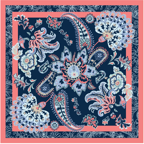 7011 -Nonya Collection Print Scarf