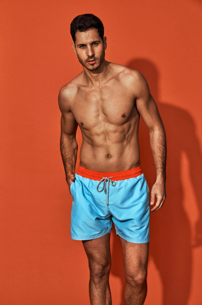 Holi Men Sky Blue Shorts- SKU 7027