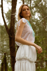 RW31010- Two-Layer Crepe Blend Skirt (50% OFF U.P$189)