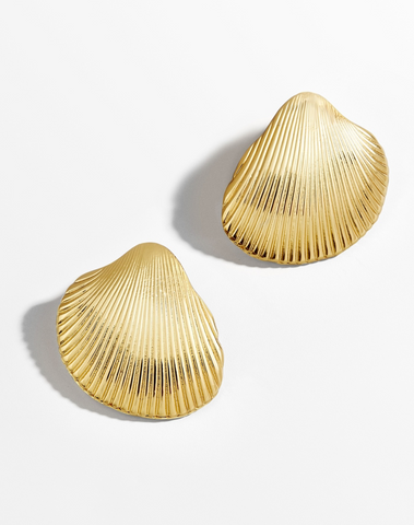 K.BLU Selects - Gold Seashell Stud Earrings
