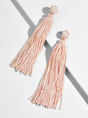 K.BLU Selects - Blush String Tassel Earrings 30% Markdown