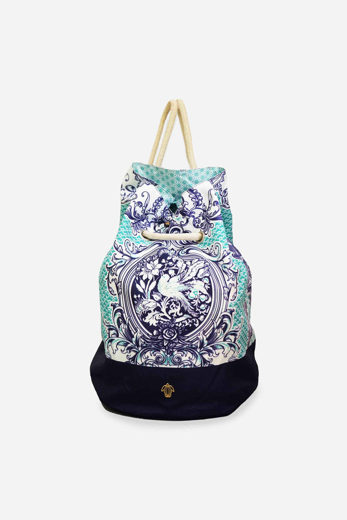 Turquoise Porcelain Sports Bag - 1612 (50% Off-U.P $150)