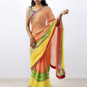 AMAZING TRI COLOR SAREE