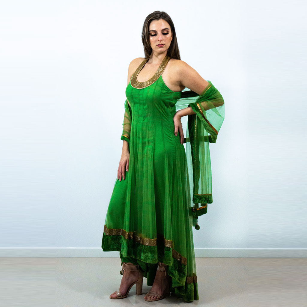 GREEN GOLD ANARKALI