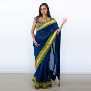 LOVELY UNIQUE BLUE SAREE