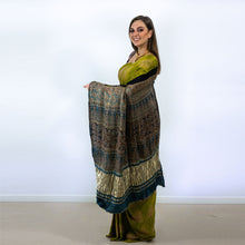 Load image into Gallery viewer, SOFT SILKY GREEN SAREE