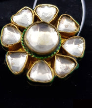 Load image into Gallery viewer, FINGER RING-KUNDAN STONES