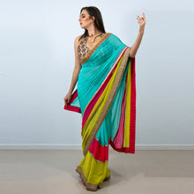 Load image into Gallery viewer, TRICOLOURED STYLISH SAREE