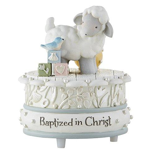 Baptized in Christ Musical Figurine - Baptism Gift The Roman Catholic Store