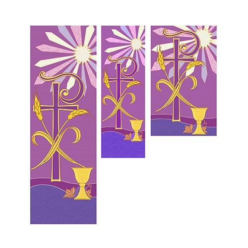 Tapestry Series Banner - Chi Rho Banner Christian Brands Church 2' X 6' Banner With Pole Hem