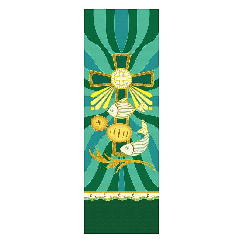 Loves & Fishes Tapestry X-Stand Banner Banner Christian Brands Church