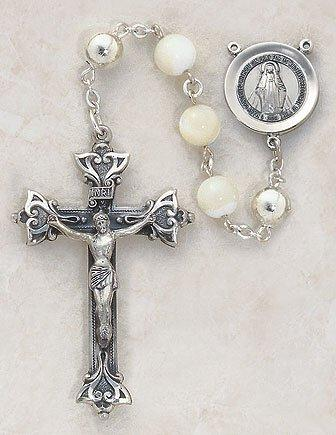 Italian Handcrafted Pearl Rosary The Roman Catholic Store