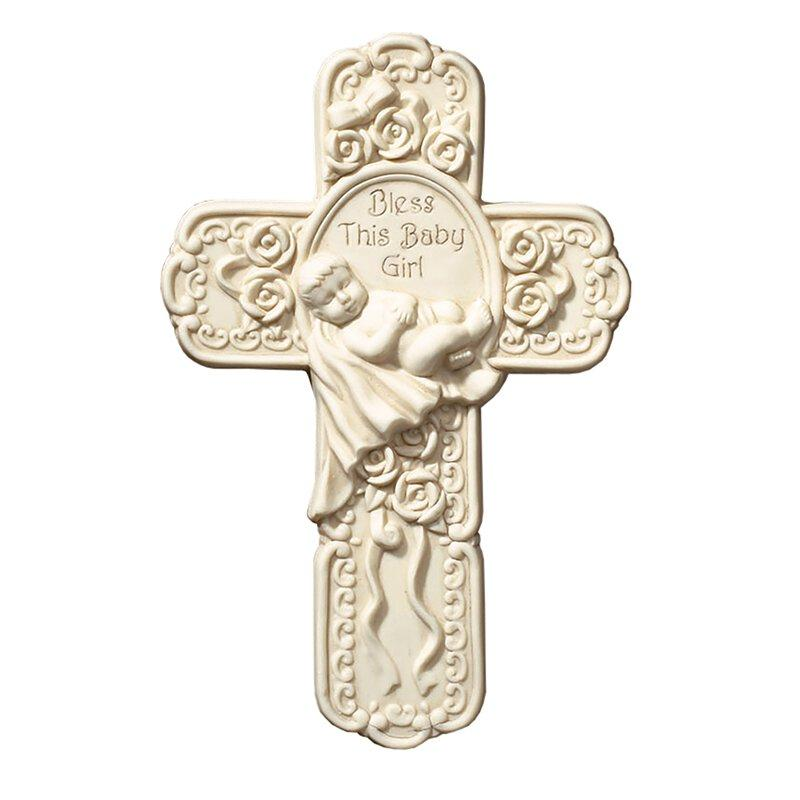 "7.5 "" Baby Girl Boxed Cross by Tomaso The Roman Catholic Store"