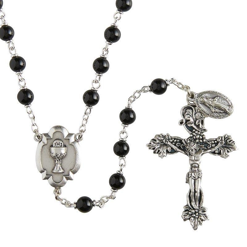 Heritage First Communion Rosary - Black The Roman Catholic Store