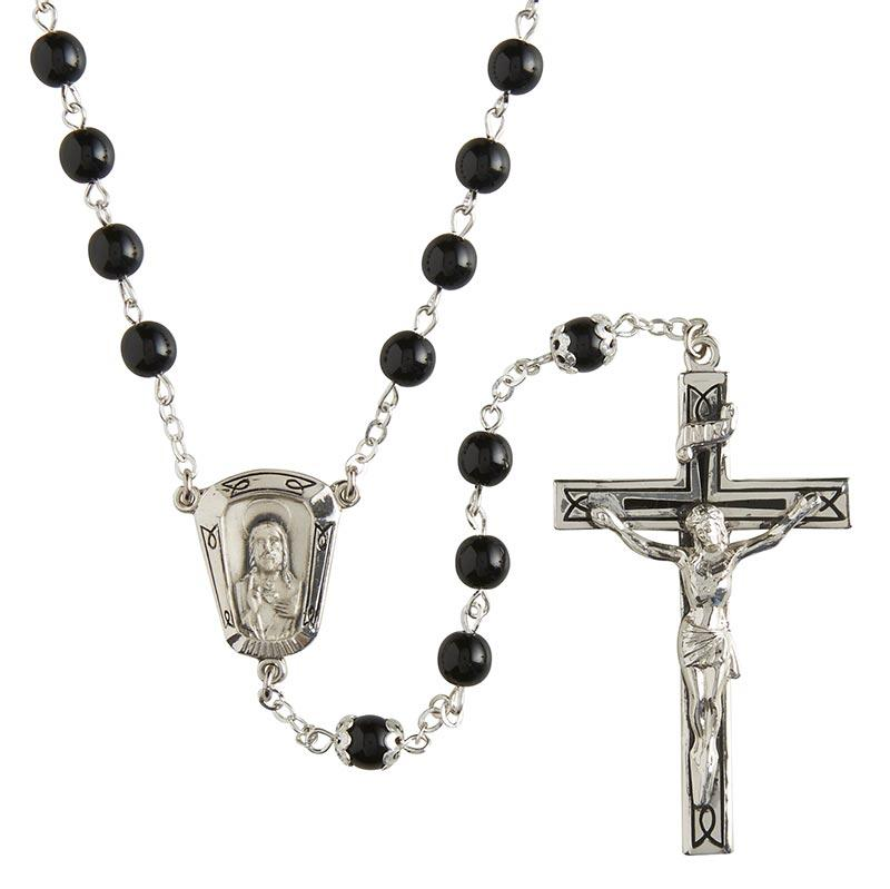Men's Black Sterling Silver Rosary The Roman Catholic Store