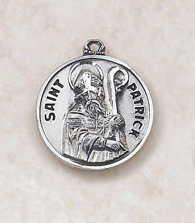 Sterling Patron Saint Patrick Medal The Roman Catholic Store
