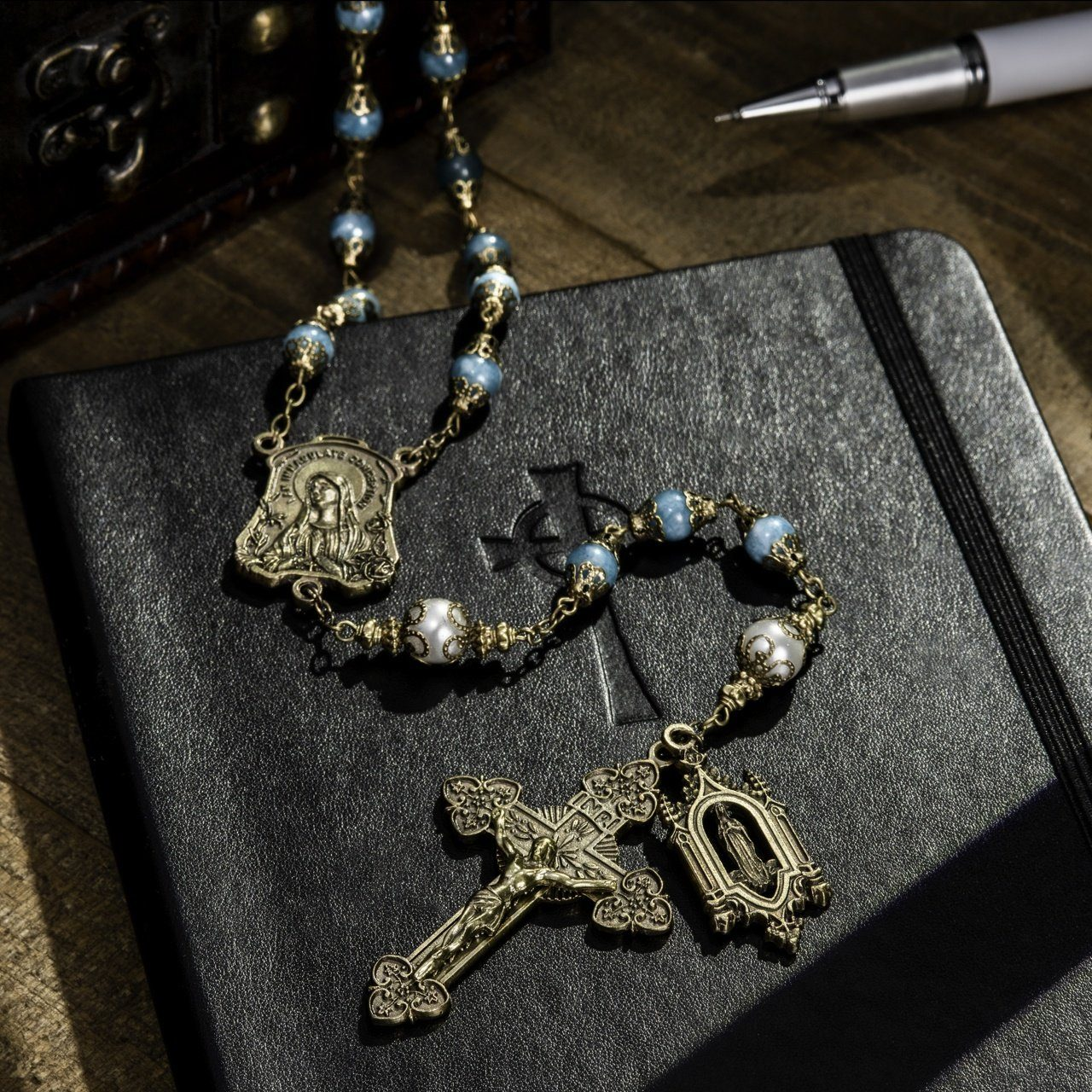 Large Creed® Our Lady Of Lourdes Vintage Rosary The Roman Catholic Store