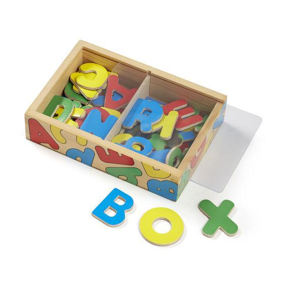 Melissa & Doug, Wooden Letter Alphabet Magnets, Toys