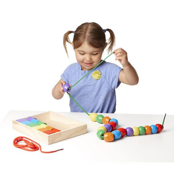 Melissa & Doug, Melissa & Doug - Primary Lacing Beads, Toys