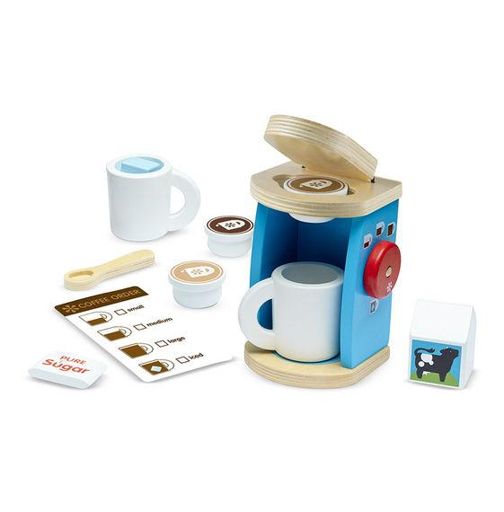 Melissa & Doug, Wooden Brew & Serve Coffee Set, Toys