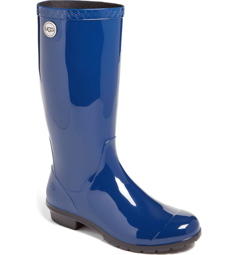 Women's UGG SHAYE Plaid Rain Boots 1012350 - Blue Jay