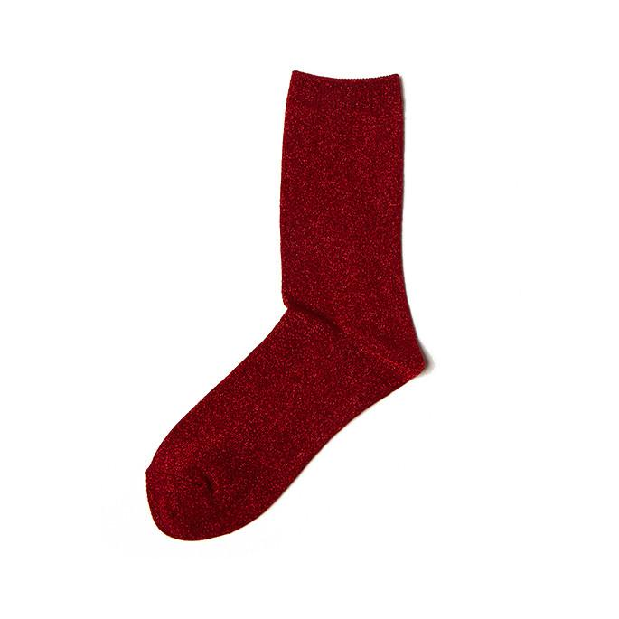 I hate Monday, glitter pearl socks red, Accessories
