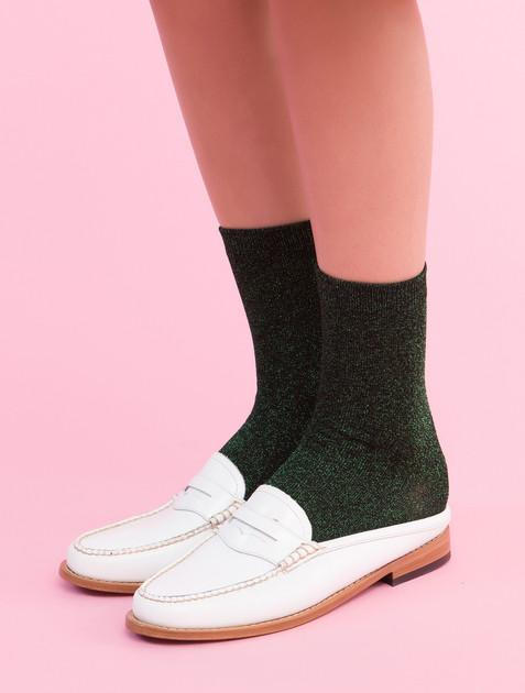 I hate Monday, glitter pearl socks green, Accessories
