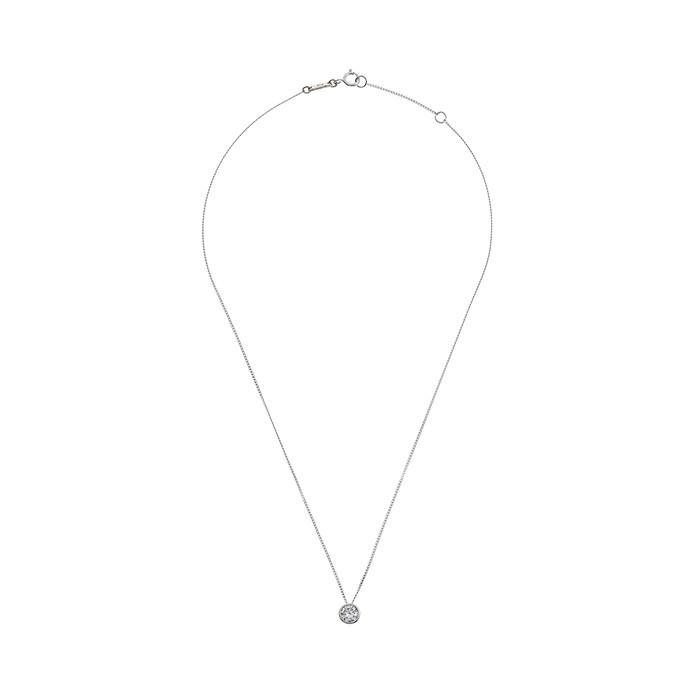 MZUU, 24/7 silver crystal necklace, Accessories