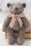 ELLEEZ KNITTED TAUPE TEDDY BEAR
