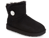UGG Women Boots MINI BAILEY BUTTON BLING 1016554 - Black